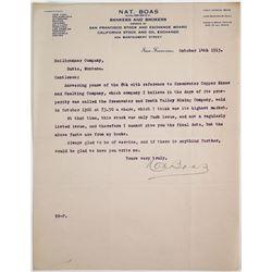 Letter to Heilbronner Co, Butte, Montana  (64226)