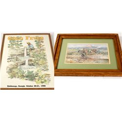 Framed Mining Prints: Montana and Georgia (2)  (56137)