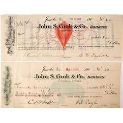Two Iconic Nevada Mining Checks  (60216)