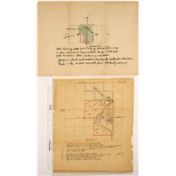Hand Drawn Utah State Land Patent Maps  (59731)
