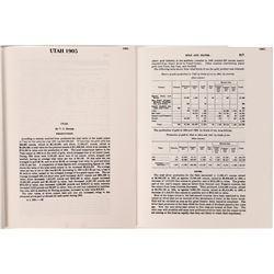 Mineral Resources Utah 1905-1931  (86678)