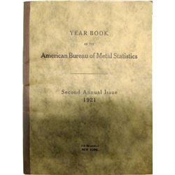 Rare Year Book of the American Bureau of Metal Statistics  (62115)