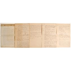 Sidney Gold Mining Co. Corporate Minutes, 1898  (62809)