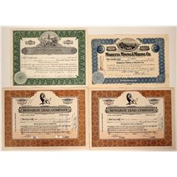 Four Chloride, Arizona Mining Stock Certificates  (107464)
