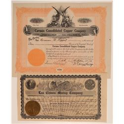 Two Different Douglas Mining Stock Certificates  (106799)