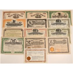 Globe, Arizona Mining Stock Certificate Collection  (106792)