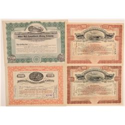 Humboldt District, Yavapai County Mining Stock Certificates (4)  (106801)