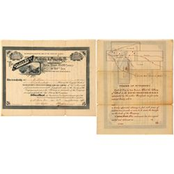 Golden West Cons. Mining & Milling Co. Stock Certificate, Monarch, AZ 1890  (59033)