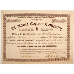 St. Louis Copper Company Stock  (77020)