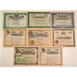 Santa Cruz County Mining Stock Certificates (8)  (106928)