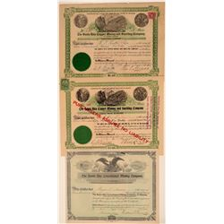 Three Different Santa Rita Mining Stock Certificates  (106924)