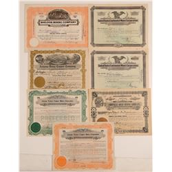 Walker, Arizona Mining Stock Certificates (7)  (106925)