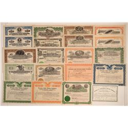 Yavapai County / Jerome Mining Stock Certificate Collection  (106795)