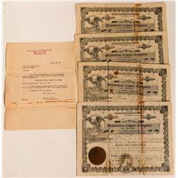 Stock Certs. (4) Greenstone Copper Company of Arizona  (83534)