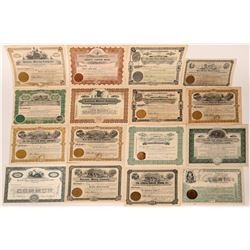 16 Different Arizona Mining Stock Certificates  (107535)