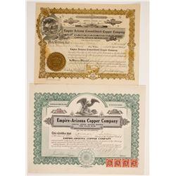 Empire Arizona Copper Mines Stocks (2)  (90606)