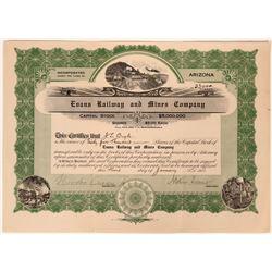 Evans Railway and Mines Company Stock, Arizona, 1911  (111830)