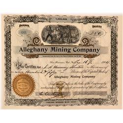 Striking Alleghany Mining Company Certificate  (119417)