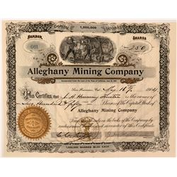 Striking Alleghany Mining Company Certificate  (119417)