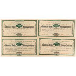 Four Calaveras Water & Mining Co. Stock Certificates  (116134)