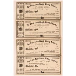 Union Consolidated Mining Co. of Cerro Gordo Stock Certificates  (116139)