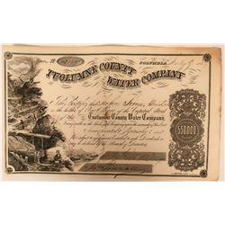 Tuolumne County Water Company Columbia Calif. Stock Certificate  (117380)