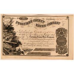 Tuolumne County Water Company Stock Certificate Columbia California  (117383)