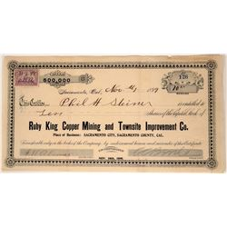 Ruby King Copper Mining & Townsite Improvement Co. Stock  (107569)