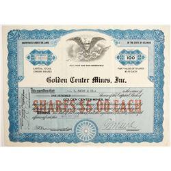 Golden Center Mines Stock  (89813)