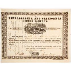 Philadelphia and California Mining Company Stock  (90477)