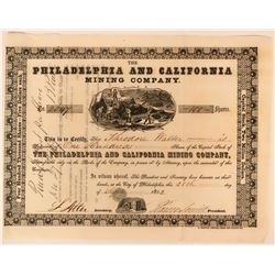 Philadelphia and California Mining Company Stock Certificate  (118049)