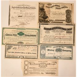 Mother Lode Group of Stock Certificates  (118046)