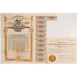 Colorado Gold Mining & Smelting Co. Stock and Bond  (62757)