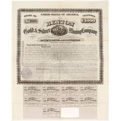 Benton Gold & Silver Mining Company Bond  (62759)
