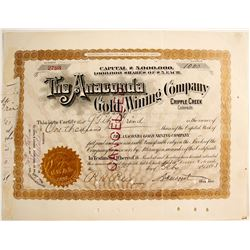 Anaconda Gold Mining Company, Cripple Creek, Colorado (signed by Moffat)  (79346)