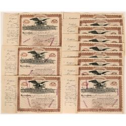 Carbonate Hill Gold Mining and Milling Co. Stock Certificates  (116137)