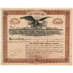 Sheriff Gold Mining Co Stock Certificate  (105860)