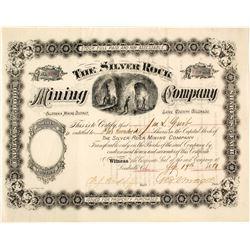 Silver Rock Mining Company Stock Certificate, Leadville, CO, 1881  (58541)