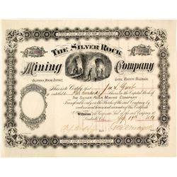 Silver Rock Mining Company Stock Certificate, Leadville, CO, 1881  (58541)