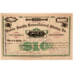Union Pacific Consolidated Mining Co. Stock Certificate  (117375)