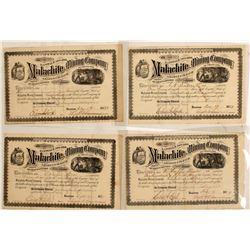 Malachite Mining Co. of CO. Stocks (4 count)  (58749)