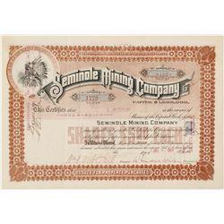 Seminole Mining Company Stock Certificate  (56924)