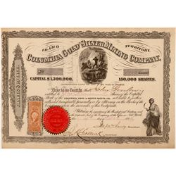 Columbia Gold and Silver Mining Co, Idaho Territory Stock (108205)