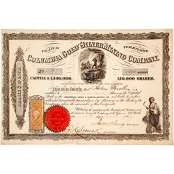 Columbia Gold and Silver Mining Co, Idaho Territory Stock 120  (58906)