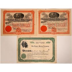 Three Big Creek District, Idaho Mining Stock Certificates  (107524)