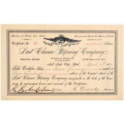Last Chance Mining Company Stock Certificate  (106680)
