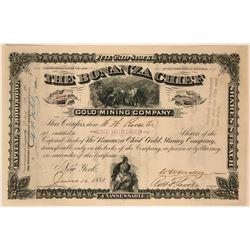 Bonanza Chief Gold Mining Company Stock Certificate  (117376)