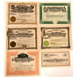 Bullfrog, Nevada Stock Certificates- Group 10  (110066)