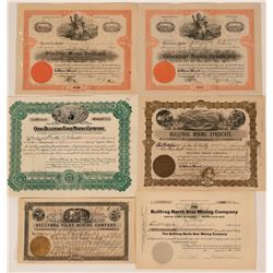 Bullfrog, Nevada Stock Certificates- Group 4  (110060)