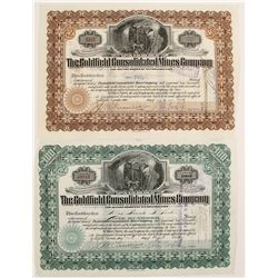Goldfield Con Mines Stocks with Wingfield Sigs  (90318)